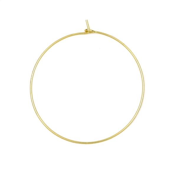 Coated Brass 40mm Hoop Ear Wires - 6 per bag - CTBXJ-029c