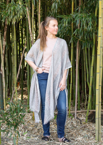 Grey Tunic Style Wrap