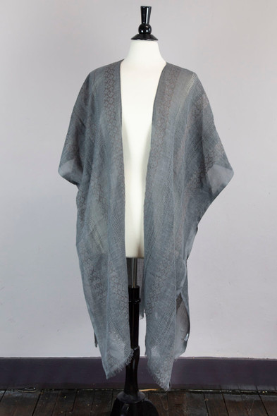 Charcoal Tunic Style Wrap