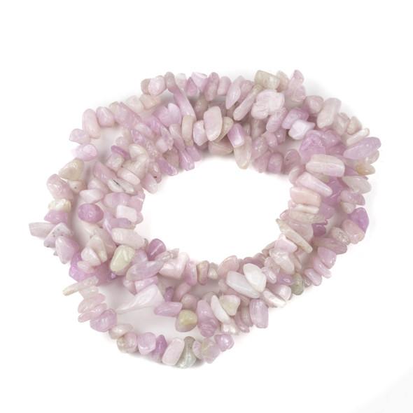 """Kunzite Grade """"B"""" 5-8mm Chip Beads - 34"""" circular strand"""
