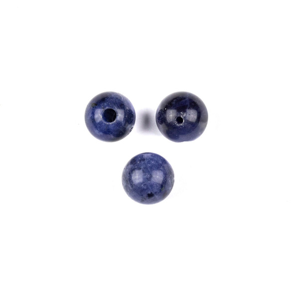 Sodalite 10mm Guru/3 Hole Beads - 3 per bag