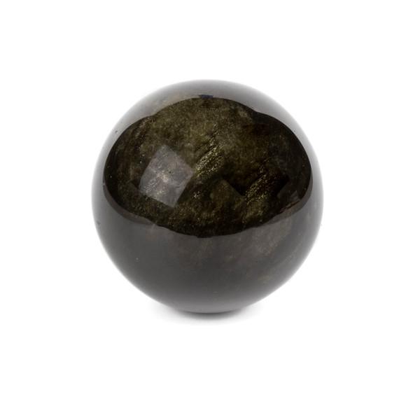 "Golden Sheen Obsidian Sphere #1 - approx. 3"", 1 piece"