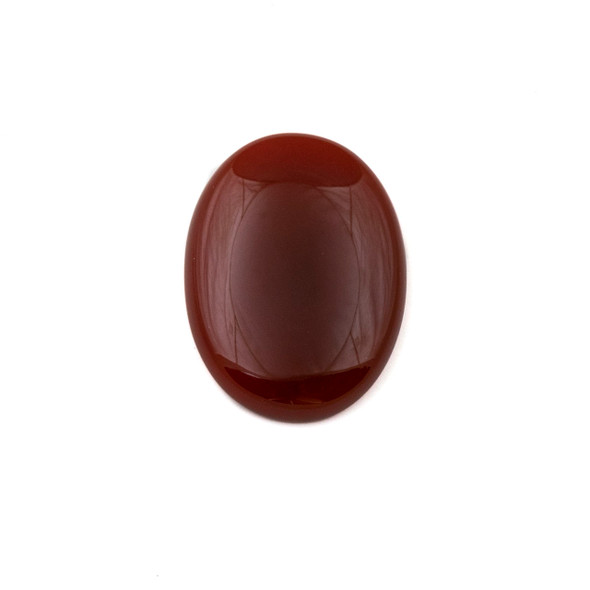 Red Agate 18x25mm Oval Cabochon - 1 per bag