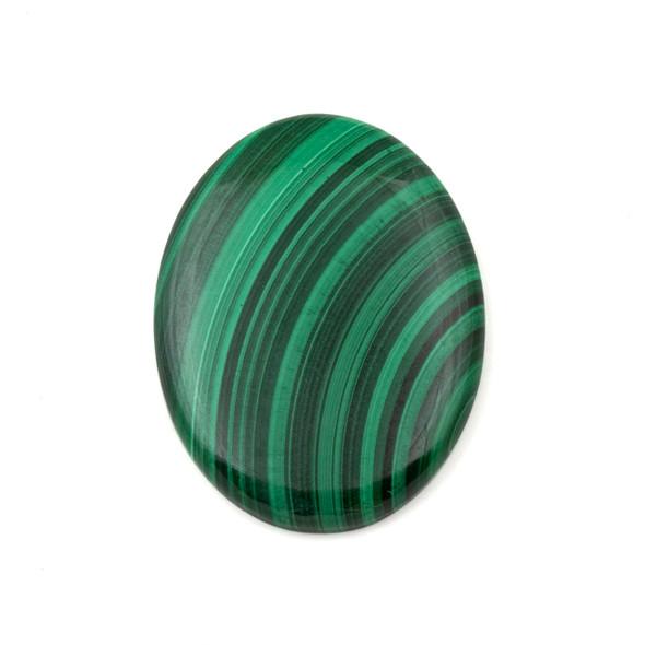 Malachite Grade 30x40mm Oval Cabochon - 1 per bag
