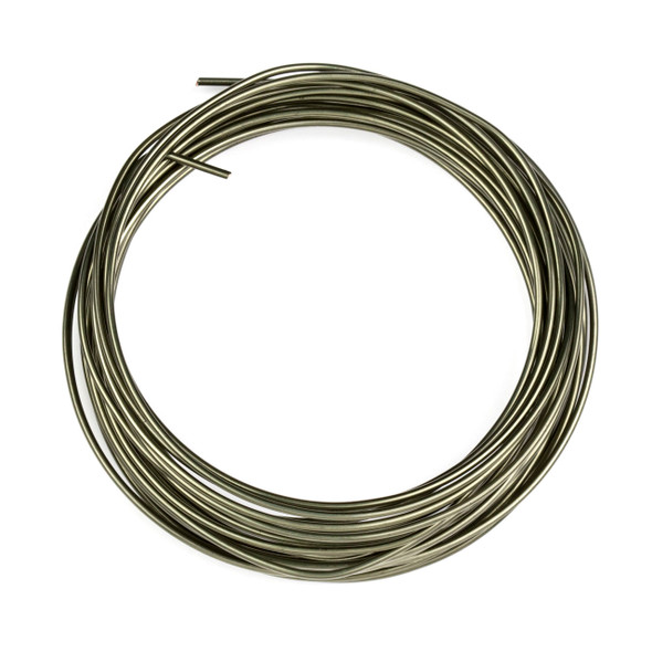 16 Gauge Coated Non-Tarnish Hematite Plated Copper Wire in a 15-Feet Coil