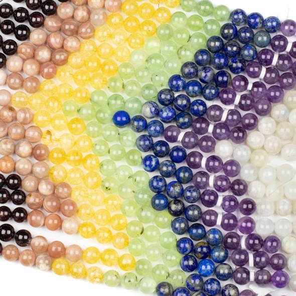 Midsummer Chakra 10mm Round Gemstone Artisan Strand - 8 inch strand