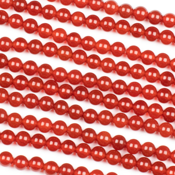 Red Agate 6mm Round Beads - 15 inch strand