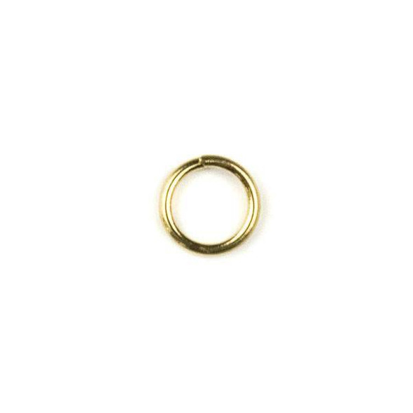 Coated Brass 6mm Open Jump Rings - 100 per bag