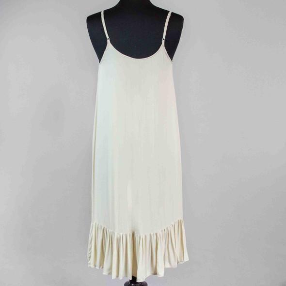Ruffle Hem Dress - Almond