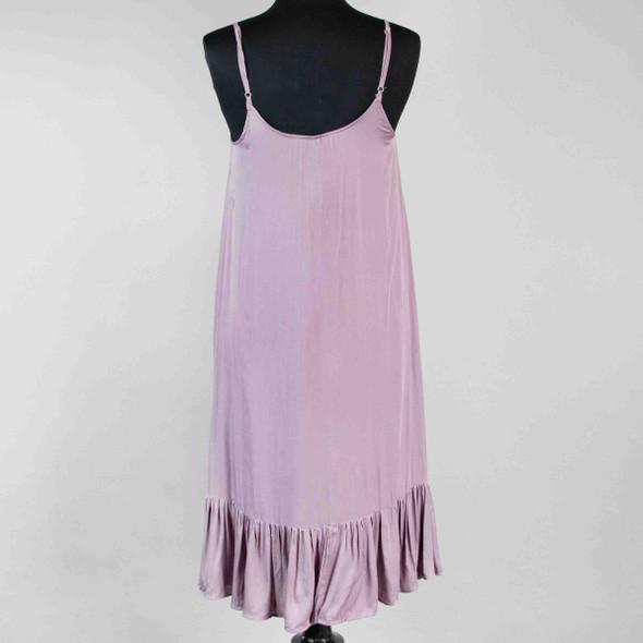 Ruffle Hem Dress - Purple