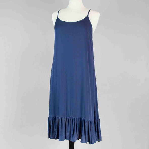 Ruffle Hem Dress - Navy