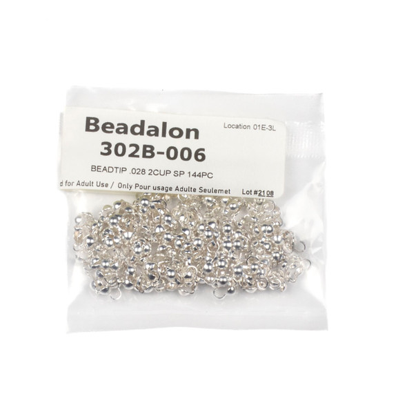 Silver Plated Bead Tips