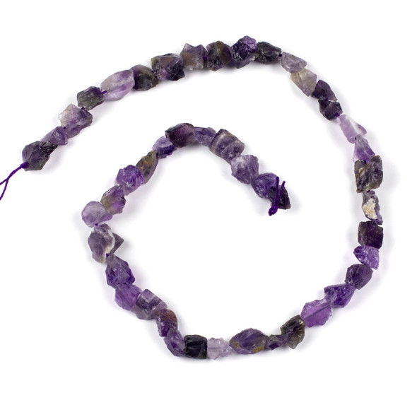 Amethyst 8-12mm Rough Nugget Beads - 16 inch strand