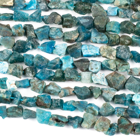 Apatite 8-12mm Rough Nugget Beads - 16 inch strand