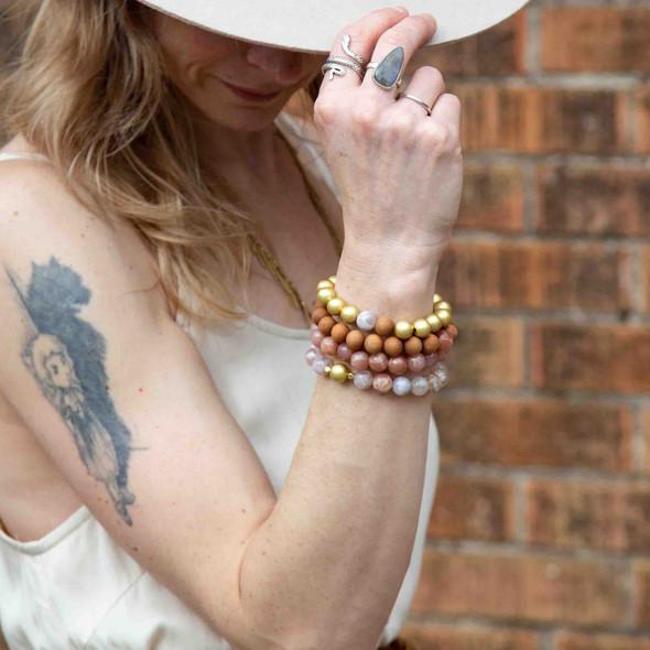 Almond Stacking Stretch Bracelets - #1