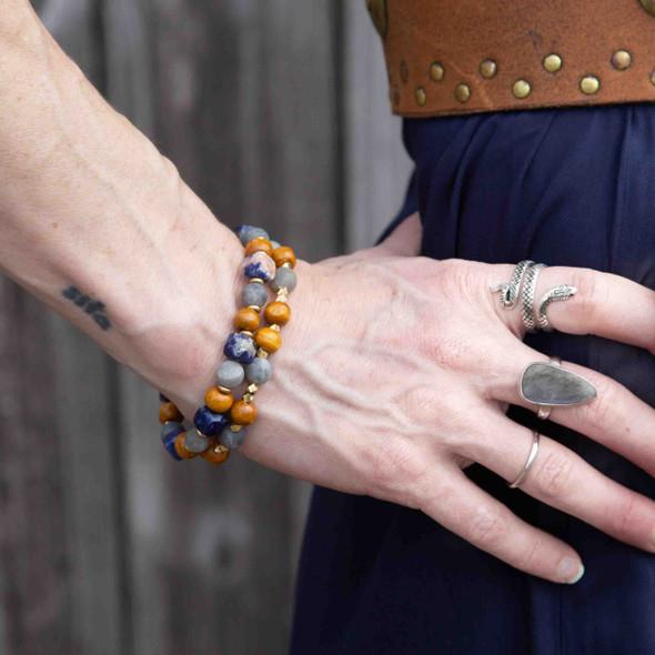 Navy Stacking Stretch Bracelets - #2