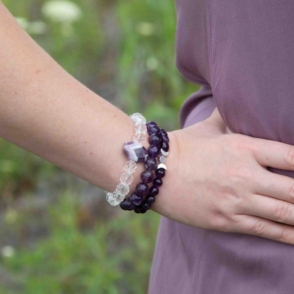 Purple Stacking Stretch Bracelets - #3