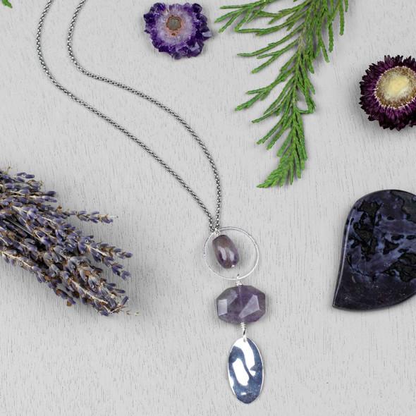 Purple Amethyst Necklace - #3