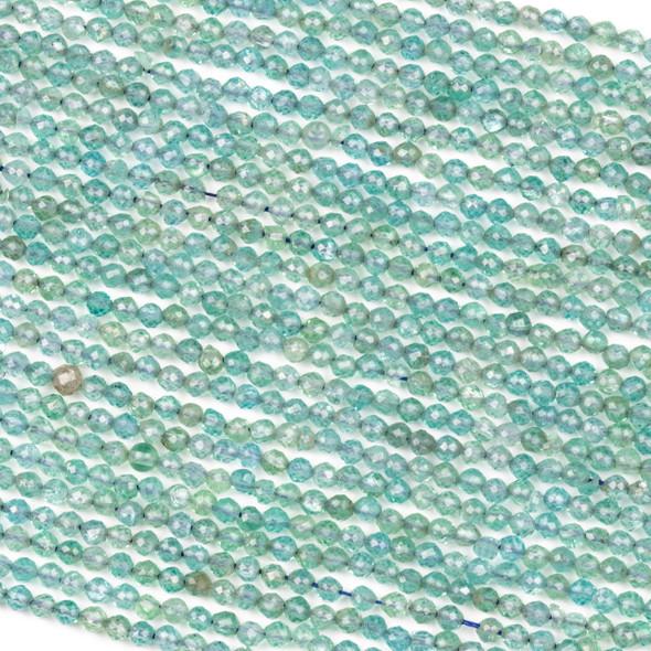 Kyanite 3mm Round Beads - 15 inch strand
