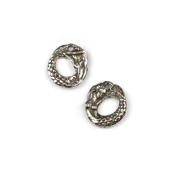 Green Girl Studios Pewter 17x18mm Mermaid Ring Charm - 1 per bag