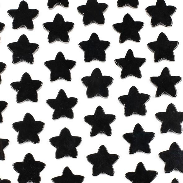 Onyx 25x26mm Top Drilled Star Pendant - 1 per bag