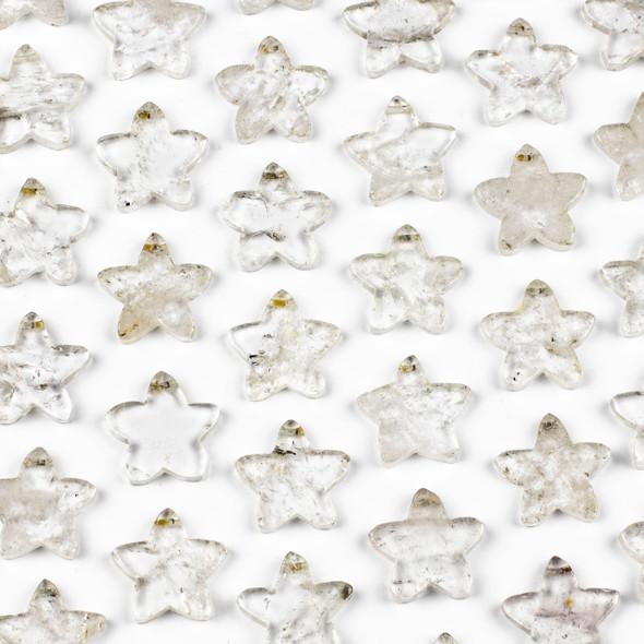 Clear Quartz 25x26mm Top Drilled Star Pendant - 1 per bag
