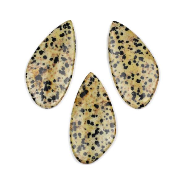 Dalmatian Jasper 25x50mm Free Form Pendant - 1 per bag