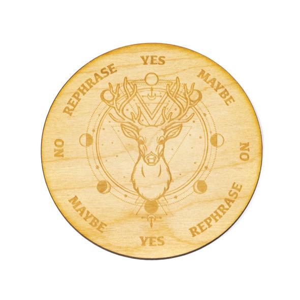 Deer Pendulum Board  - 4 inch, Birch Wood