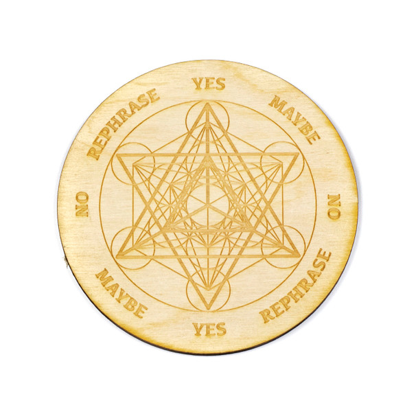 Merkaba Metatron's Cube Pendulum Board  - 4 inch, Birch Wood