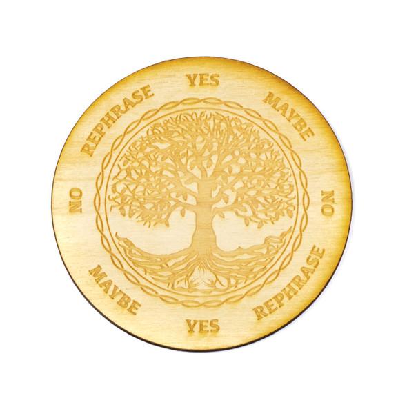 Tree of Life Pendulum Board  - 4 inch, Birch Wood