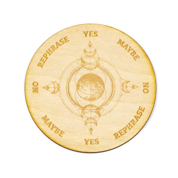 Triple Moon Pendulum Board  - 4 inch, Birch Wood
