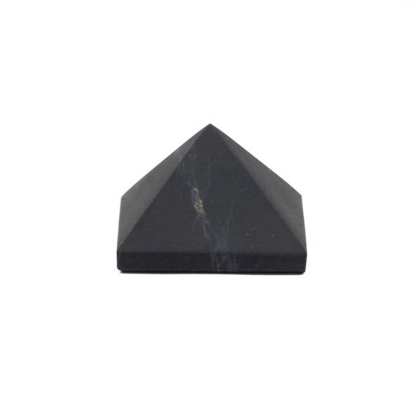 Shungite Unpolished Pyramid - approx. 1.25 inch, 1 piece