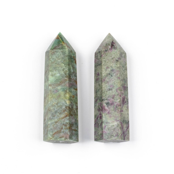Ruby Zoisite Crystal Point Tower - approx. 3.5 inches, 1 piece