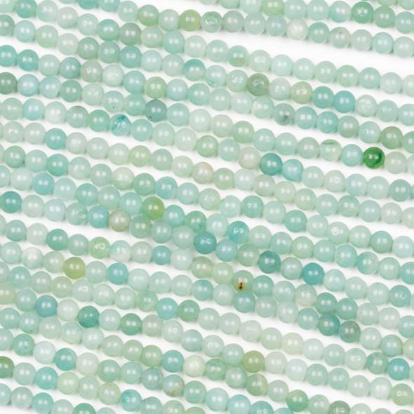 Amazonite 3mm Round Beads - 15 inch strand