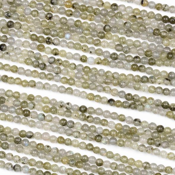 Labradorite 3mm Round Beads - 15 inch strand