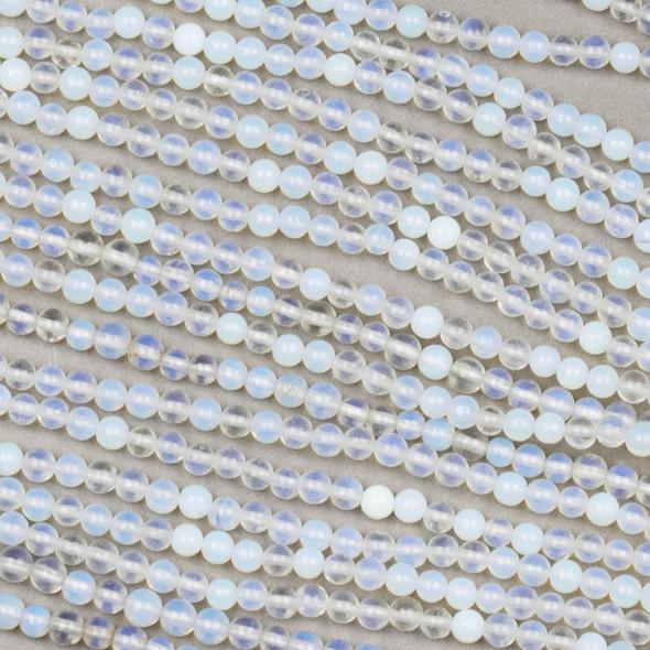 Opaline/Opalite 3mm Round Beads - 15 inch strand