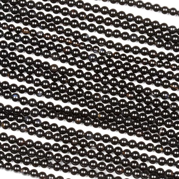 Onyx 3mm Round Beads - 15 inch strand