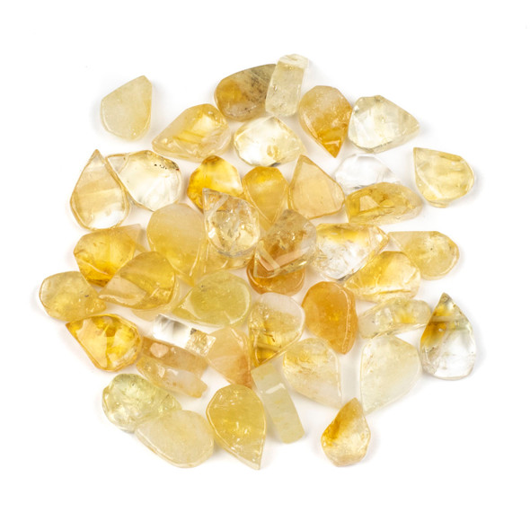 Citrine approximately 12x17mm Rough-Cut Polished Top Drilled Teardrop Pendants - 1 pair/2 pieces per bag