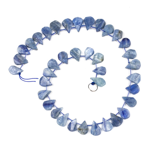 Kyanite approximately 14x20mm Rough-Cut Polished Top Drilled Teardrop Beads - 15 inch strand