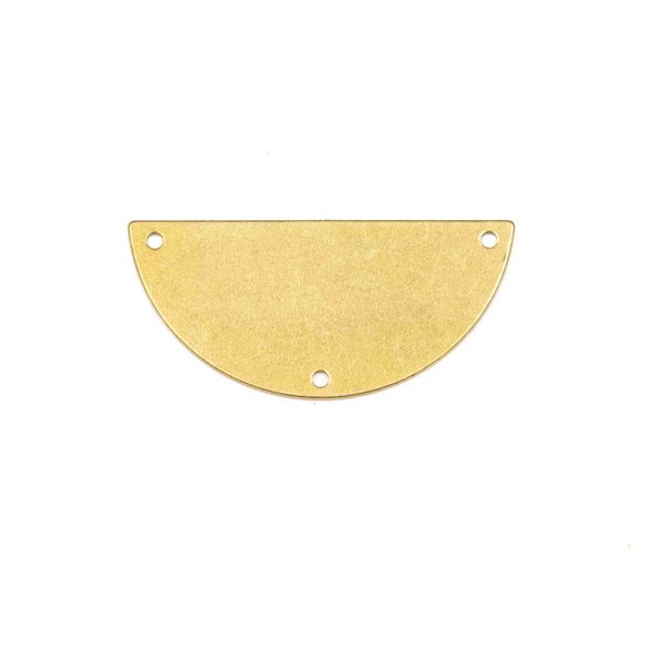Coated Brass 18x38mm Half Moon Link Components with 3 Holes - 6 per bag - YH-018c