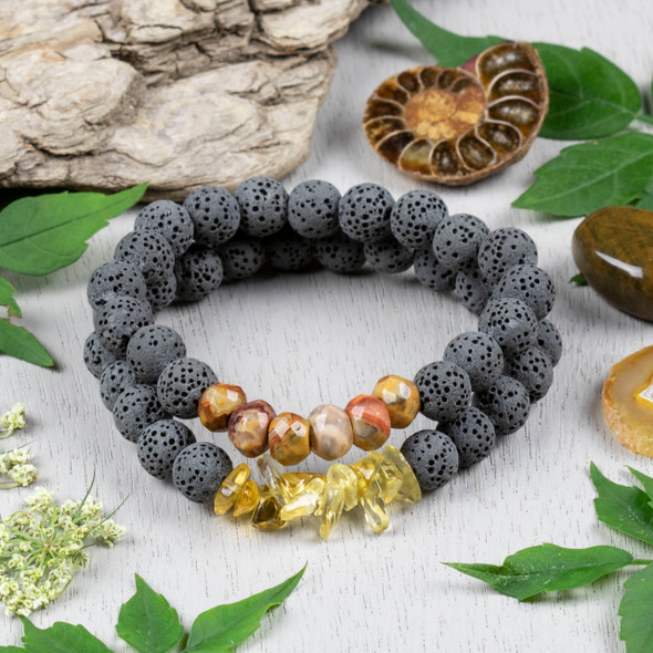 Aromatherapy Citrine and Lava Bracelet Kit - bkit-33