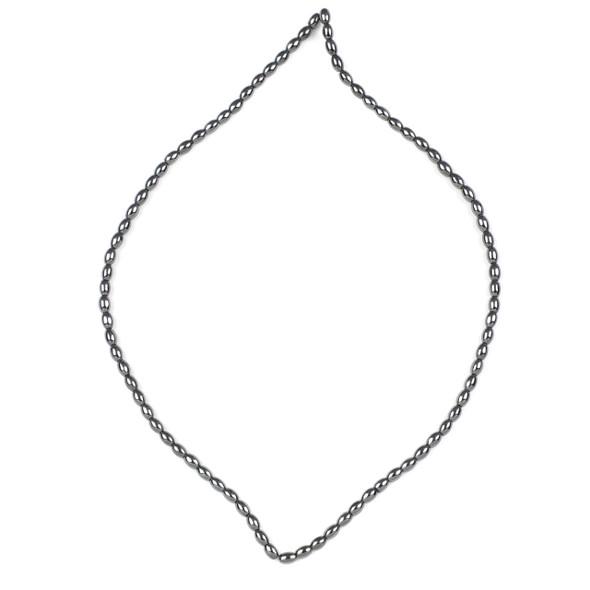 Hematite 3.5x5mm Rice Beads - 15 inch strand