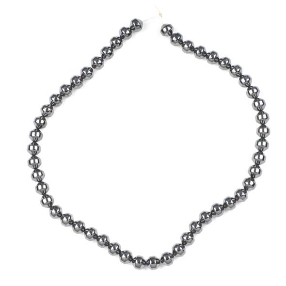 Hematite 8mm Bicone Beads - 15 inch strand