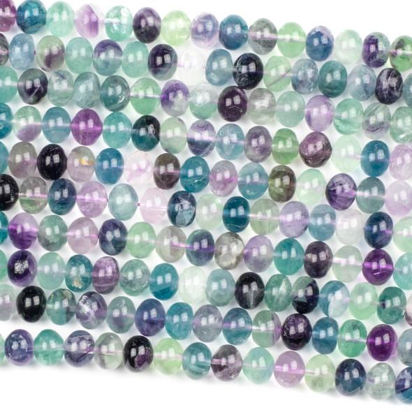 Rainbow Fluorite 8x10mm Rondelle Beads - 16 inch strand