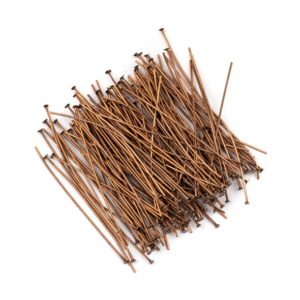 Vintage Copper Plated Brass 2 inch, 20g Headpins - 150 per bag