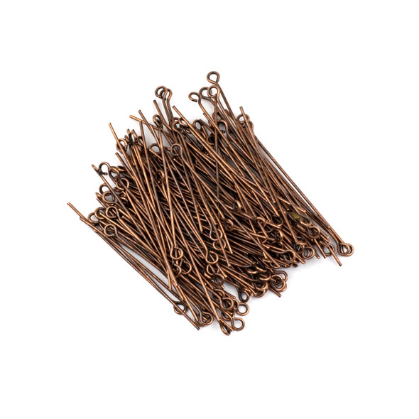 Vintage Copper Plated Brass 1.5 inch, 20g Eye Pin - 150 per bag