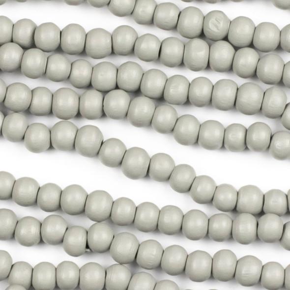 Grey Schima Superba Wood 6mm Round Beads - 15 inch strand