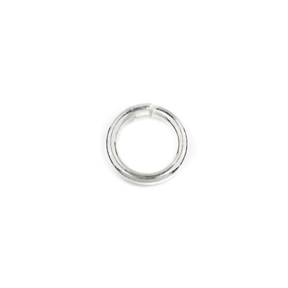 Sterling Silver 6mm Open Jump Rings - 19 gauge - 100 per bag