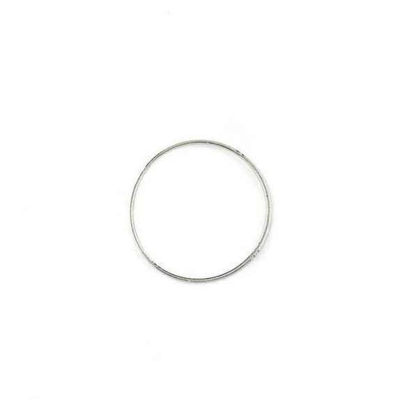Silver Plated Brass 24mm Hoop Link Components - 6 per bag - CTBXJ-024s