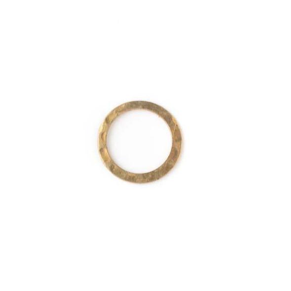 Brass 13mm Hammered Link - 30 per bag - baseaDS029vb